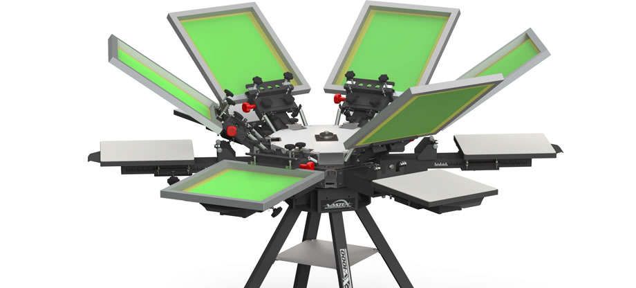 6 screen printing machine