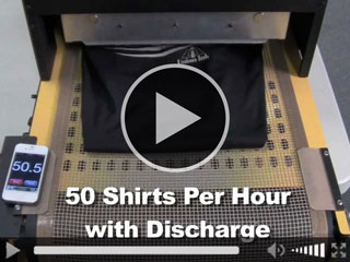 Curing discharge ink