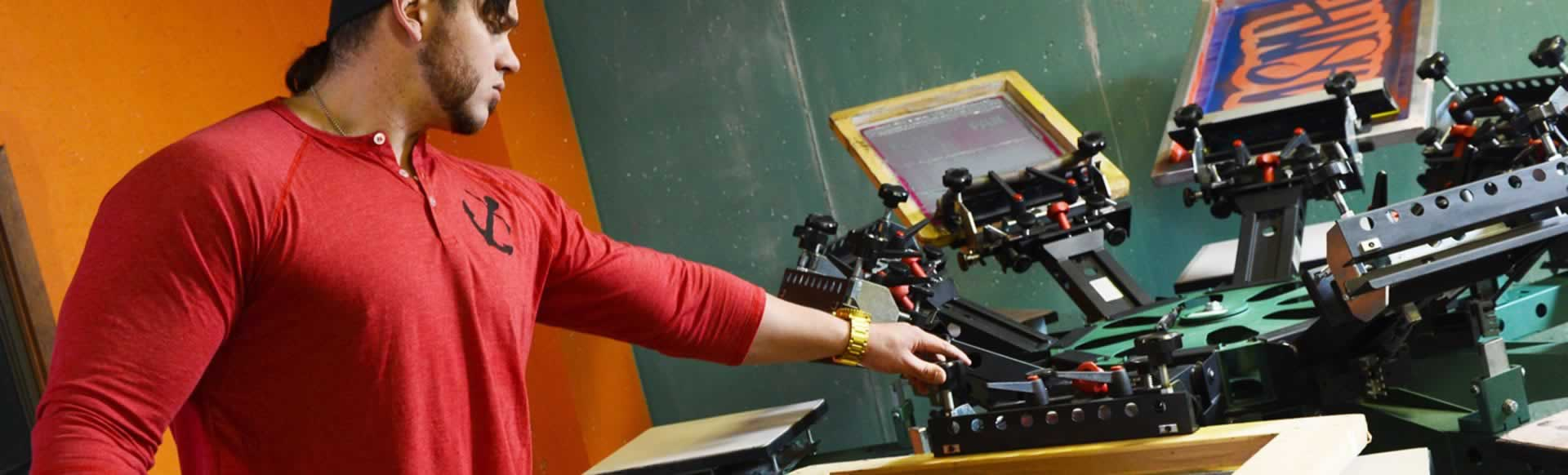 Screen Printing Press Replicates Out-of-Register Look