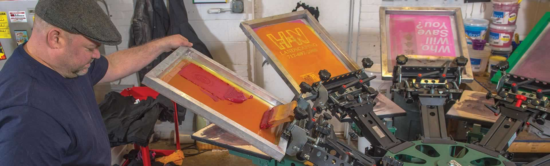 Manual Printing Press Transforms Hobby into High-Wattage Business