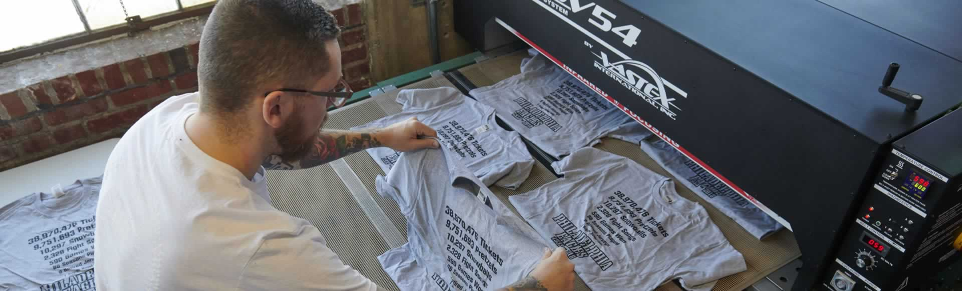 T-shirt Screen Printing Puts Pink in the Black